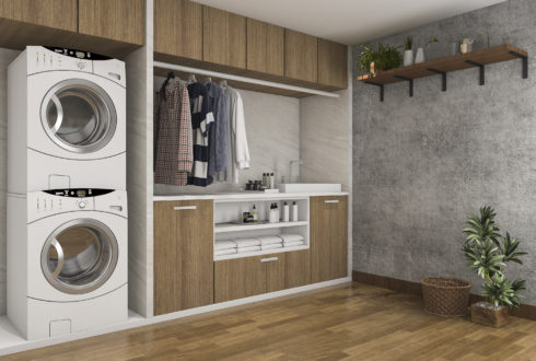 Tips for small laundries that will make the space feel bigger